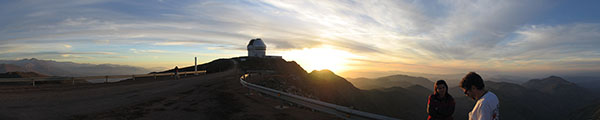 Cerro Pachon and the Gemini South Telescope at Sunset