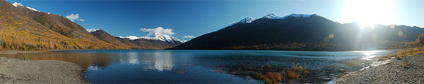 Autumn on Eklutna Lake, Alaska