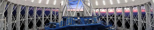 Gemini South Interior at Sunset