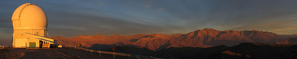 Cerro Pachon and the SOAR Telescope at Sunset
