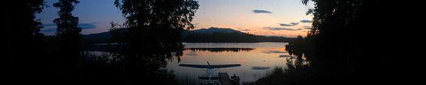 Sunset on Whiskey Lake, Alaska